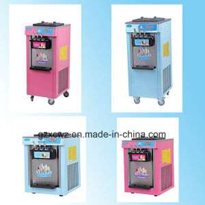 Commercial Color Painting Three Flavors Soft Serve Ice Cream Machine Made in China pictures & photos