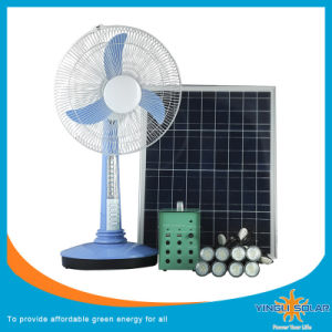 Solar Fan with Portable Solar Lighting Kit pictures & photos