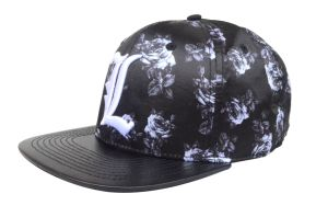 Custom Sports Protection 3D Embroidery Black Polyester Snapback Cap pictures & photos