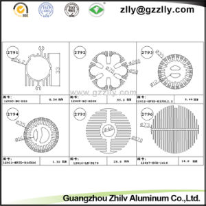 Guangzhou Zhilv Coating Aluminum Profile Heat Sink pictures & photos