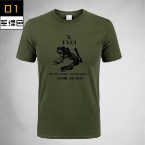Fashion Breathable Military Cotton T-Shirt pictures & photos