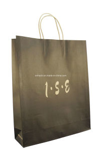 Twisted White Kraft Paper Bag Made in China pictures & photos
