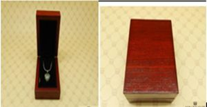 Burgandy Pendant Box with Wood Grain pictures & photos