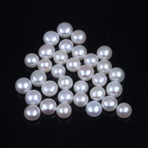 Lots 6mm Half Drilled Freshwater Pearl for Earring Ring Wholesale pictures & photos