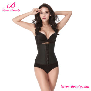 Slimming Latex Full Steel Black Waist Training Corset pictures & photos