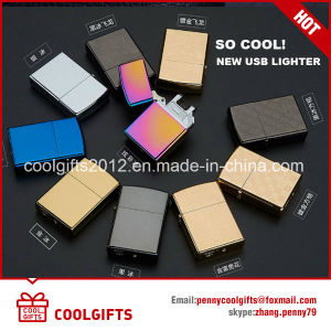Multi-Color Electronic Fashion USB Charging Double Arc Electric Lighter pictures & photos