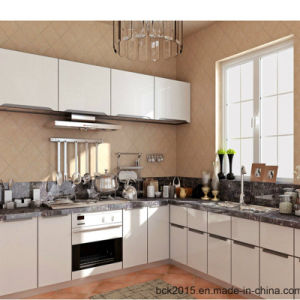 2017 Bck The Latest Fashion Organic Glass Modern Kitchen Cabinet (BCK-1701) pictures & photos