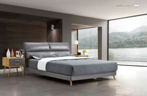 Bedroom Furniture New Elegant Design Modern Leather Bed (HC870) pictures & photos