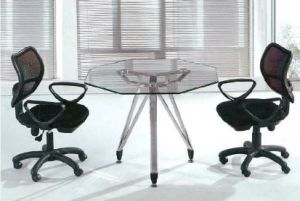 Round Shape Glass Conference Deskl/Table (HX-GL066) pictures & photos