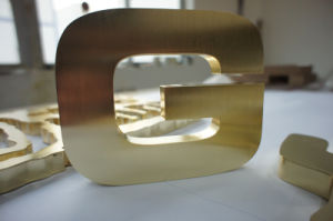Non-Illuminated Brushed Polished Painted Metal Stainless Steel Advertising Welding Edge Letter Sign pictures & photos