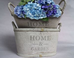 Gray and White Printing High-Quality Practical Flowerpot