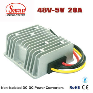 48VDC to 5VDC 20A 100W DC-DC Converter with Waterproof IP68 pictures & photos