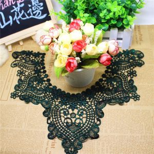 Factory Stock Wholesale 8cm Width Embroidery Nylon Lace Polyester Embroidery Trimming Fancy Chemical Lace for Garments Accessory & Home Textiles & Curtains pictures & photos