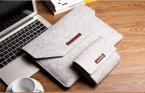 Slim Eco-Friendly Felt Sleeve Carrying Promotion Gift Bag for Laptop pictures & photos