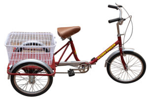 Light and Portable Senior People Three Wheel Bike (FP-TRCY028) pictures & photos