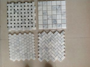 Starry White Star White Chinese White Marble Mosaic Floor Tile pictures & photos