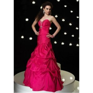 Ball Gown Halter Evening Dresses Taffeta Prom Dress Floor Length Dress