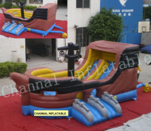 Inflatable Pirate Ship/Inflatable Slides Chsl234 pictures & photos