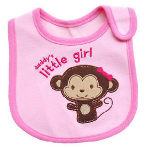 Customized Cartoon Sleeveless Unisex Embroidered Water Resistance Jersey Baby Bib pictures & photos