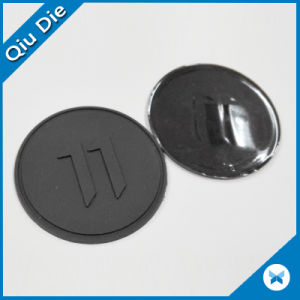 Custom Hot-Stamped Relief Possible Self-Adhesive Pads on Back Plastic Emblems pictures & photos