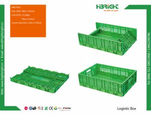 Vegetable and Fruit Foldable Plastic Crate pictures & photos