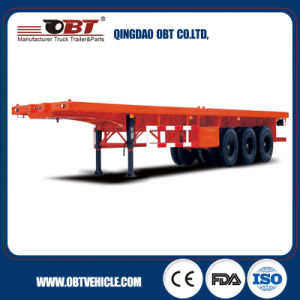 Factory Stock Cheap Price 40FT Container Flatbed Semi Trailer pictures & photos