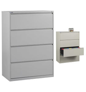 4 Drawer Office Lateral File Storage Cabinet with Lock pictures & photos
