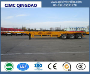 Cimc Low Price Skeleton Flatbed Container Semi Trailer for Sale Chassis pictures & photos