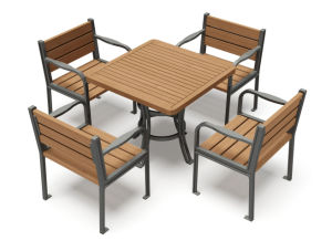 Outdoor Tables and Chairs Combined for Park (GYX-Z25) pictures & photos