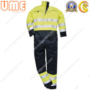 Hi-Vis Workwear Coverall with Flame Retardant Feature (UHVC07)