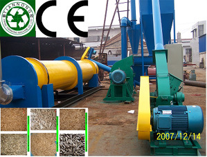 Wood Crusher and Rotary Dryer (1-16TON/1HOUR)