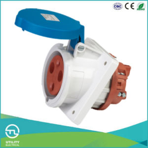Non-Waterproofing Panel-Mounted Angled Socket for Industrial Plug Socket Connector pictures & photos