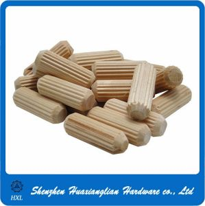 Straight Knurled Tapered Furniture Fittings Cylinder Wooden Dowel Pin pictures & photos