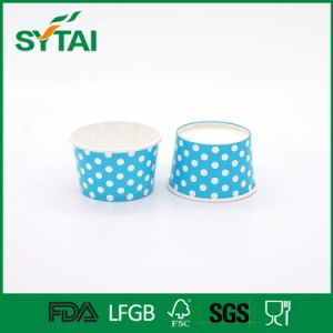 High Quality Disposable Colorful DOT Printed Ice Cream Paper Cups pictures & photos
