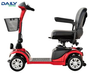 Mini 4 Wheels Suspenstion Electric Mobility Scooter with 9inch Solid Wheels pictures & photos