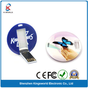 Plastic Mini Round Credit Card USB Flash Drive pictures & photos
