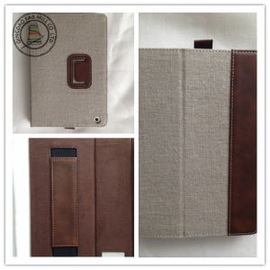 Hemp PU Leather Tablet PC Cases for iPad pictures & photos