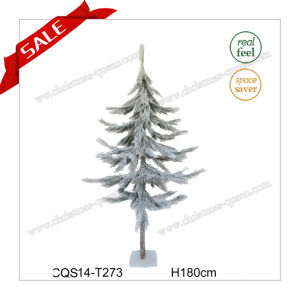 2017 Hottest Plastic Artificial Christmas Tree with Snow H120-180cm pictures & photos