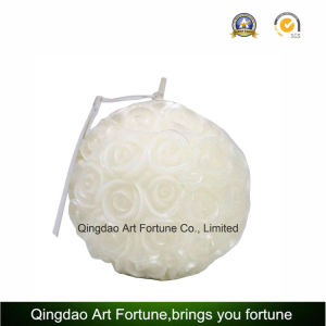 Handmade Flower Inclusion Pillar Candle for Home Decor pictures & photos