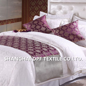 100% Polyester Customized Hotel Bed Scarf / Bed Runner (DPF2670) pictures & photos