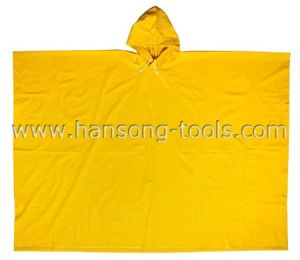 PVC/Polyester Rain Poncho pictures & photos