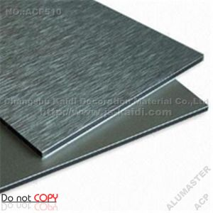 Silver Brushed Aluminium Composite Panel ACP Sheets (ACP510)