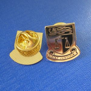 Custom Gold Plated Lapel Pin, Justitia Badge (GZHY-LP-032) pictures & photos