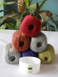 Miya (Mink merino silk blended yarn)