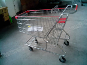 180 Liters American Supermarket Retail Store Shopping Cart pictures & photos