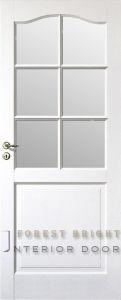 White Primed Wood Panel Glass Door (CD-0322)