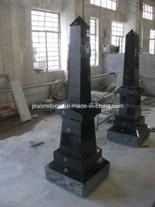 Jet Black Obelisk Monuments, Headstones
