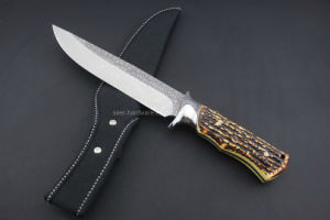 Handle Hunting Knife with Fake Bone Handle (SE-0435) pictures & photos