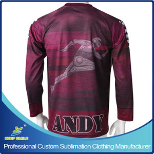Custom Sublimation Boy′s Lacrosse Shooter Sports T Shirts pictures & photos