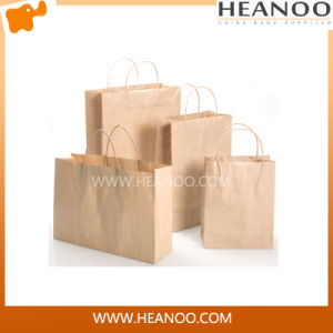 Custom Logo Printed Kraft Paper Shopping Bag for Small Product pictures & photos
